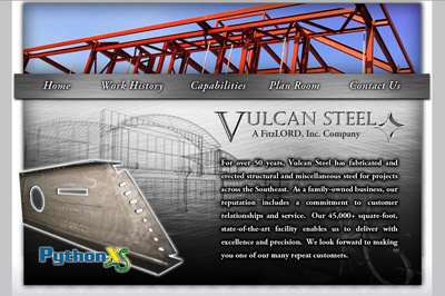 Vulcan Steel Website