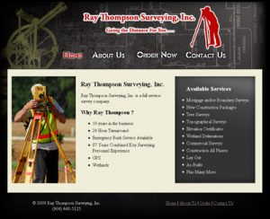 Ray Thompson Surveying Web Re-design